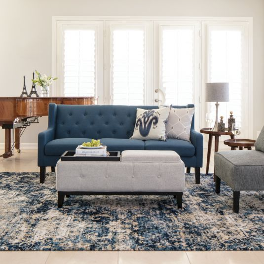 Alfred Living Room Collection - Dark Blue | Jerome\'s ...
