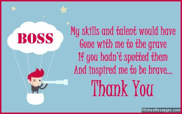 Thank You Notes For Boss Messages And Quotes To Say Thanks