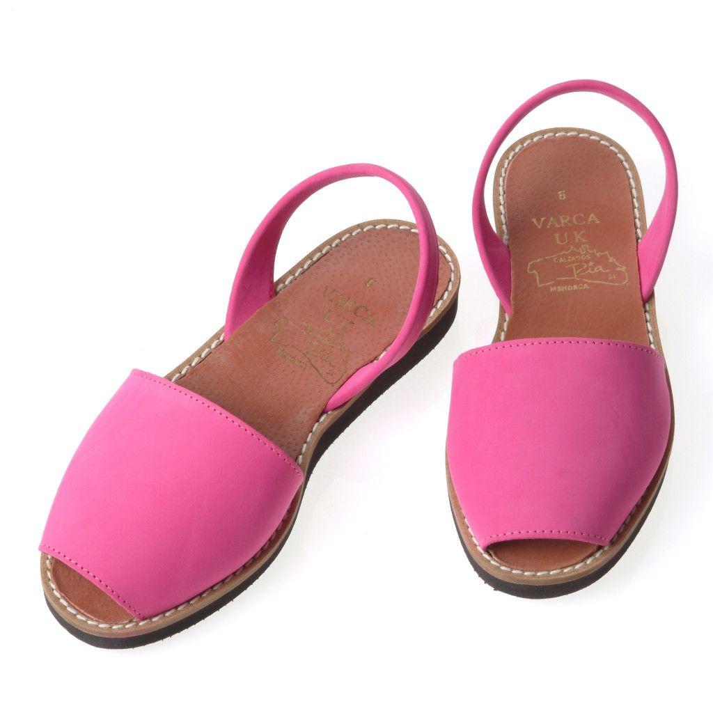 Fuchsia Nubuck Varca Sandals - Varca - Menorcan Sandals, the most comfortable sandals I have ever worn