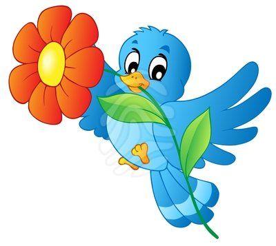 blue flowers clip art