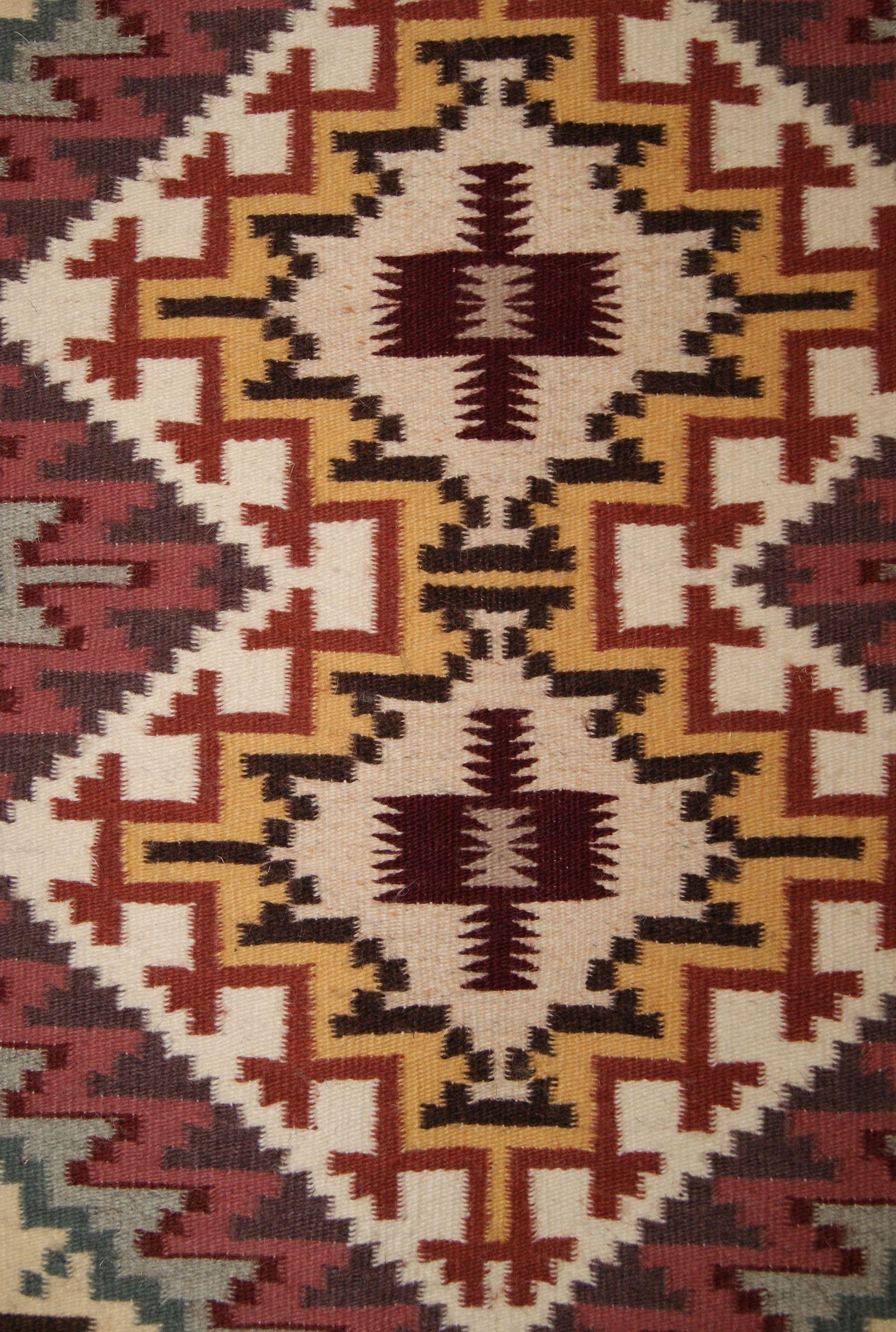 Burntwater Navajo Weaving For Sale Kilim Weaving 2 Motifs