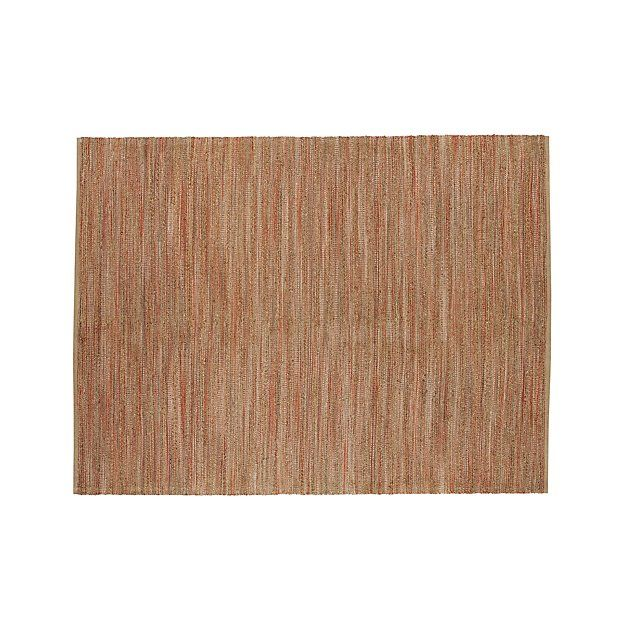 Jarvis Coral Orange Jute Blend 9 X12 Rug Crate And