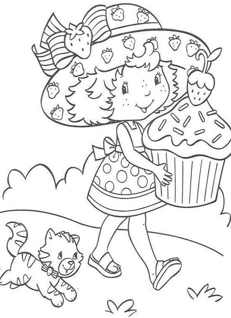 Read Morea Big Cake Strawberry Shortcake Coloring Page