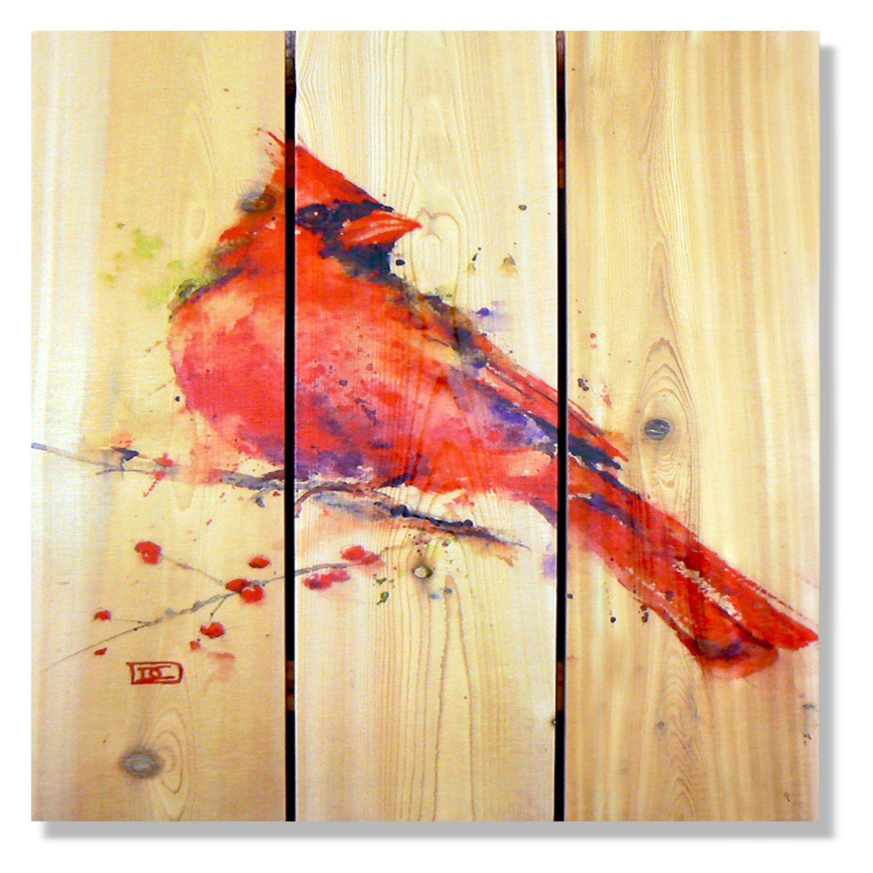 Gizaun Art Signature 1 Cardinal Indoor/Outdoor Wall Art - DCRC1624 ...