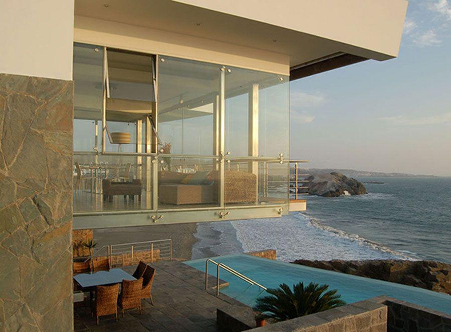 Contemporary Beach House Plan HOUSE PLANS ALTERNATIVE BEACH - Modern house on cliff