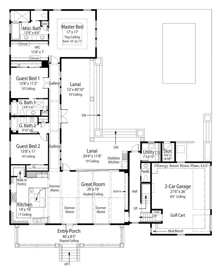 Bonair House Plan 709 4 Bed 4 5 Bath 2 892 Sq Ft Wright Jenkins Custom Home Design Stock House Floor Plans Pool House Plans Courtyard House Plans House Plans