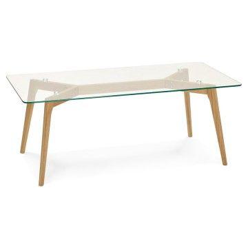 Table Basse Scandinave Rectangulaire Avec Plateau En Verre Trempe Scara Vistadeco Table Basse Rectangulaire Table Basse Table Basse Scandinave