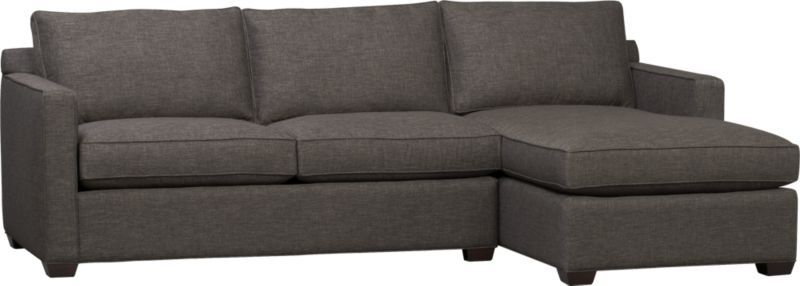 Davis 2 Piece Sectional Sofa Crate And Barrel In Teal Which Is