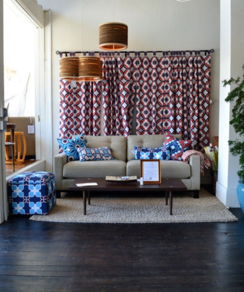 simple living room curtains behind couch ideas