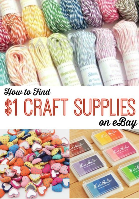 How To Find 1 Craft Supplies On With Images Cheap Crafts