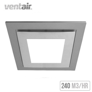 Ventair Airbus Square With Led Light 225 Ceiling Exhaust Fan