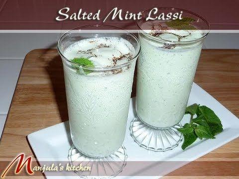 Salted Mint Lassi Indian Yogurt Drink Recipe By Manjula Lassi Recipes Interesting Food Recipes Indian Food Recipes Vegetarian