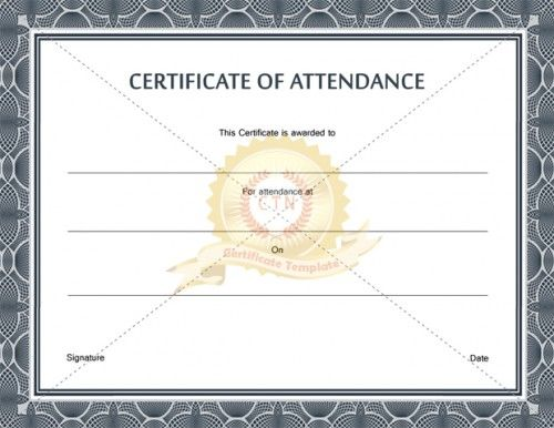 Download free or premium version No registrations! Instant - certificate of attendance template free download