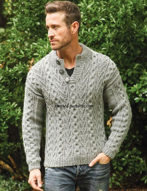 1418896982a21 Men s pullovers and sweaters knitting patterns