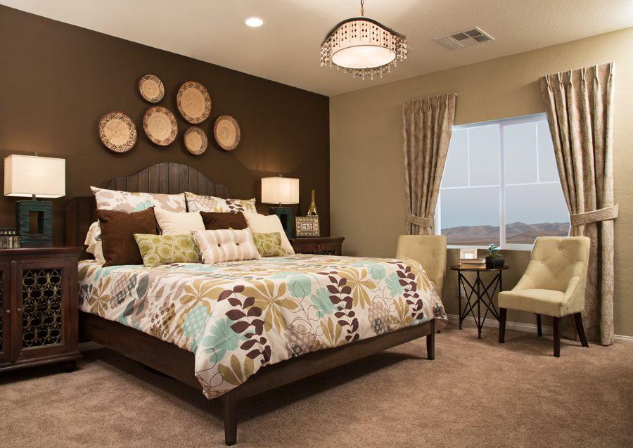 Master Bedroom Green Brown