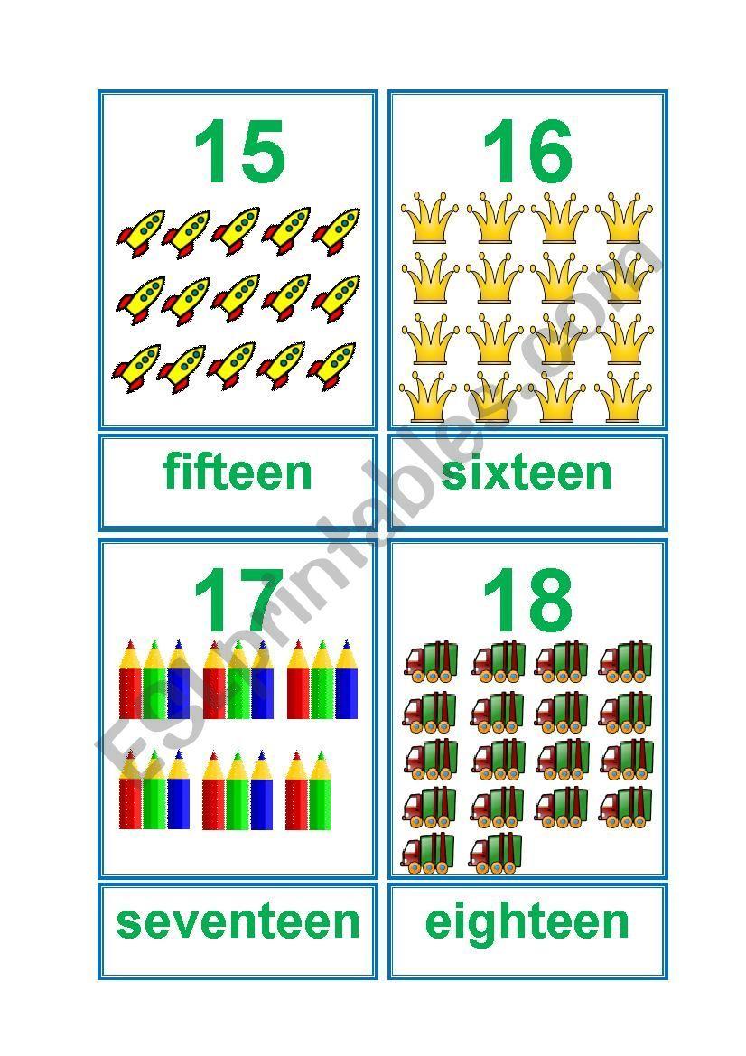 Numbers 11 20 Flashcards Worksheet Flashcards Kindergarten Worksheets Printable Vocabulary Worksheets [ 1169 x 826 Pixel ]