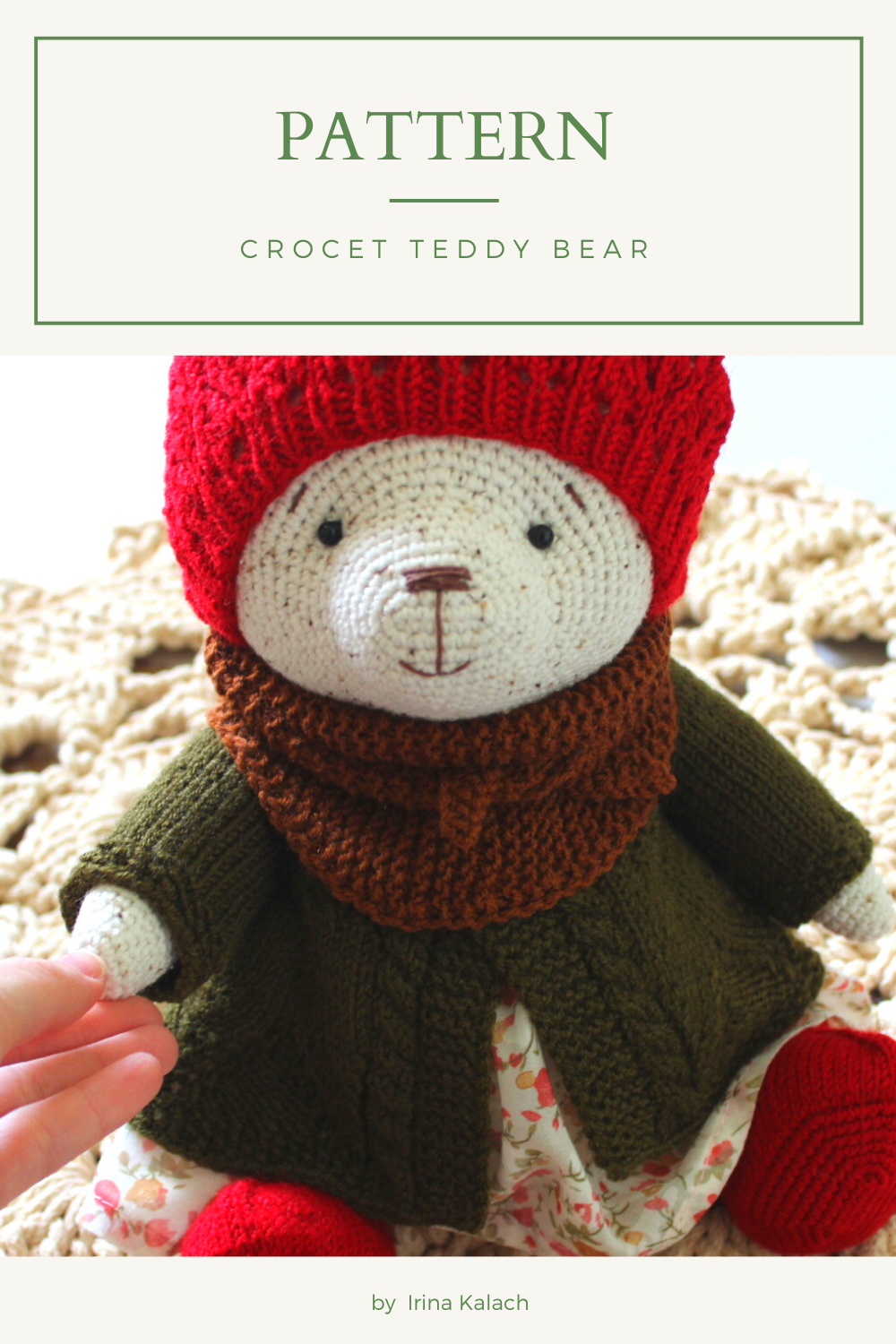 PATTERN Crochet Teddy bear. PATTERN Amigurumi Teddy bear.