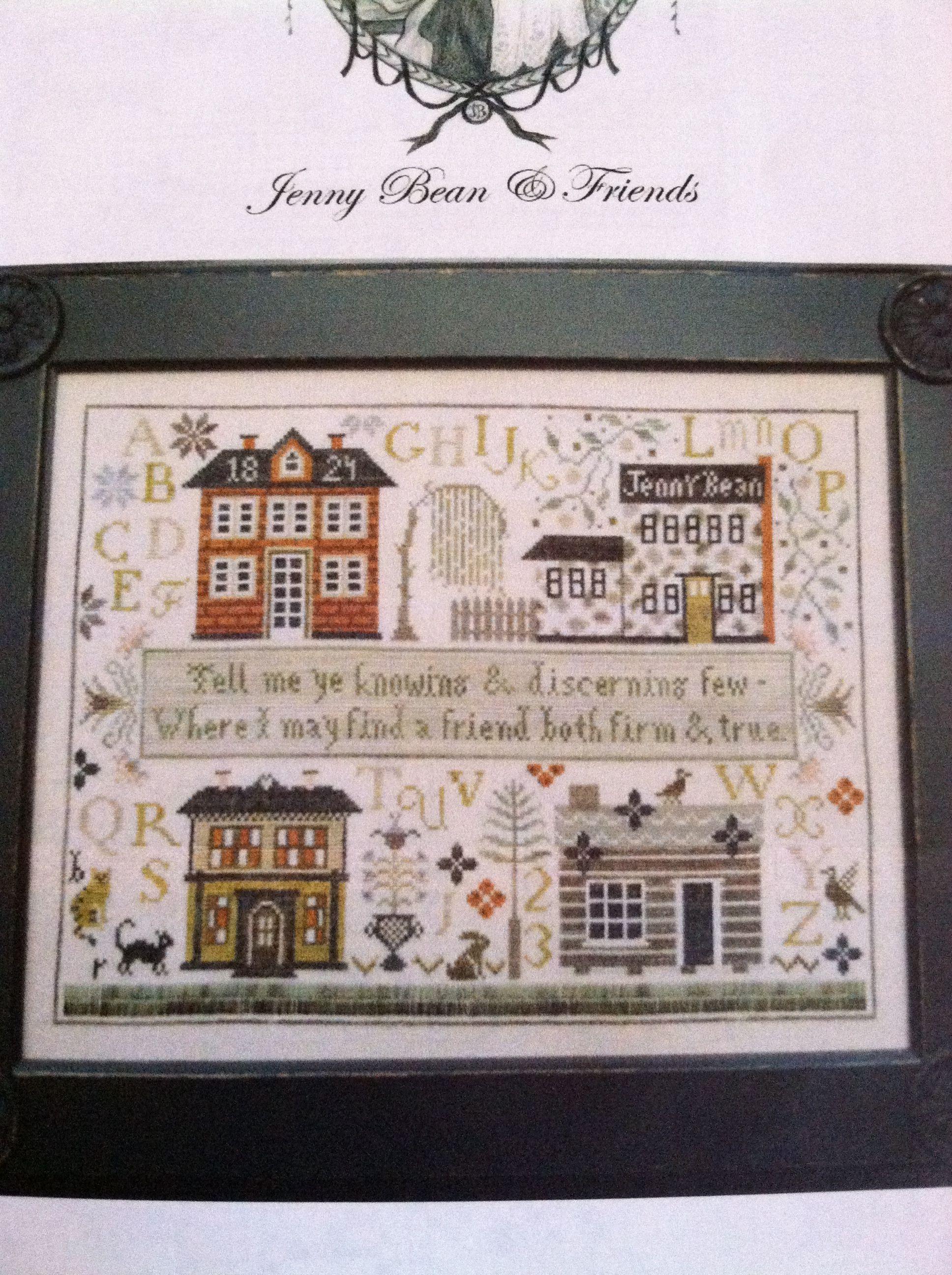 Jenny Bean Cross Stitch House Cross Stitch Samplers Cross Stitch