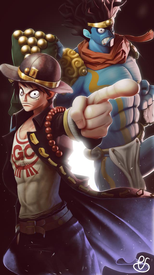 I got into Jojo recently so I drew some crossover action