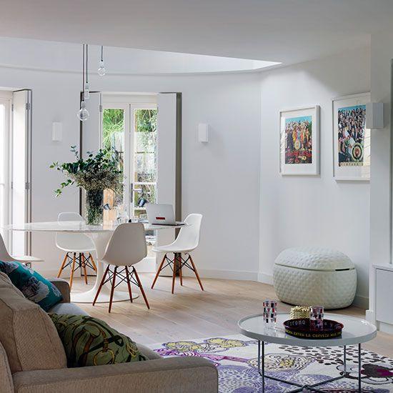 Alwinton Corner Sofa Handmade Fabric | White Living Rooms, Open .