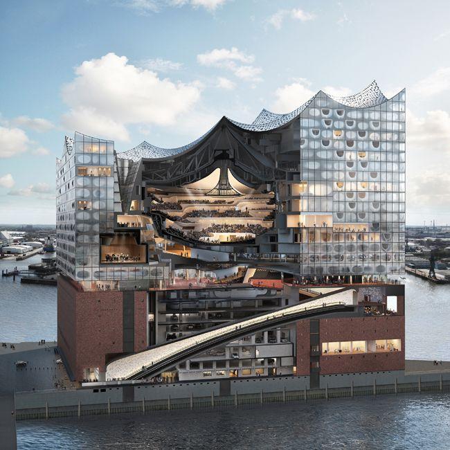Why Herzog De Meuron S Hamburg Elbphilharmonie Is Worth Its 900 Million Price Tag The Red Brick Base Concert Hall Architecture Architecture Algorithm Design