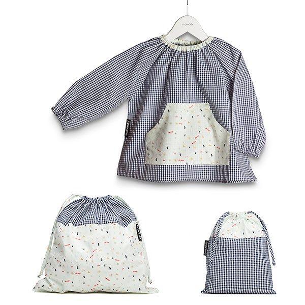 Un set de bata, bolsa pequeña y bolsa grande perfecto para ir a la ...