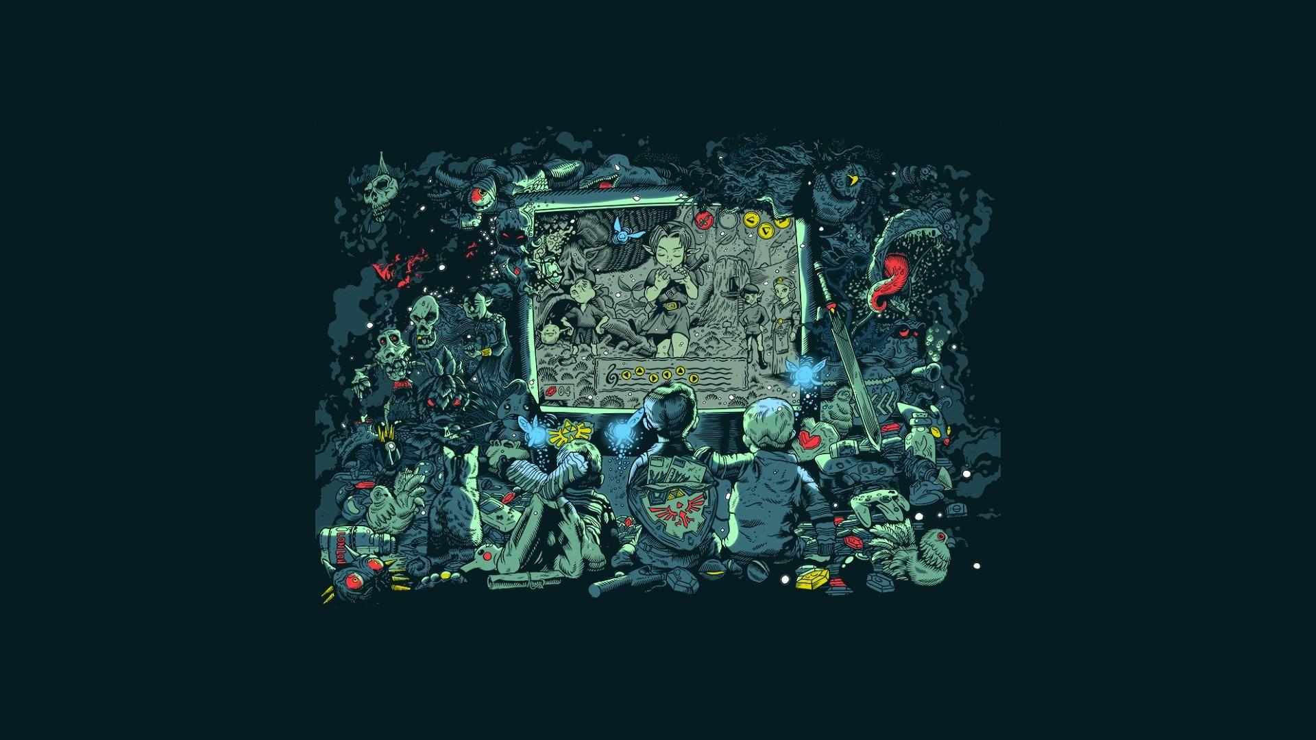 Zelda illustration by Tim McDonaghill 4k wallpaper for