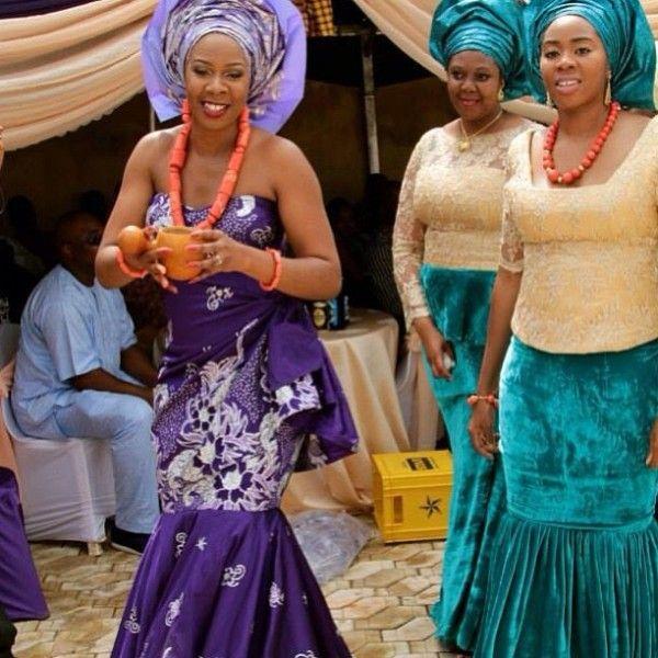 My Nigerian Wedding: Igbo Tradional Wedding Bride's Native Dress...My Daughter