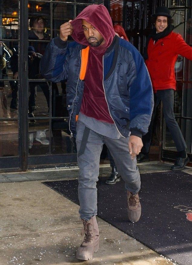 Kanye West Wears The Soloist By Takahiro Miyashita Jacket And Adidas Yeezy Boots Upscalehype Kanye West Outfits Kanye West Style Kanye West Adidas