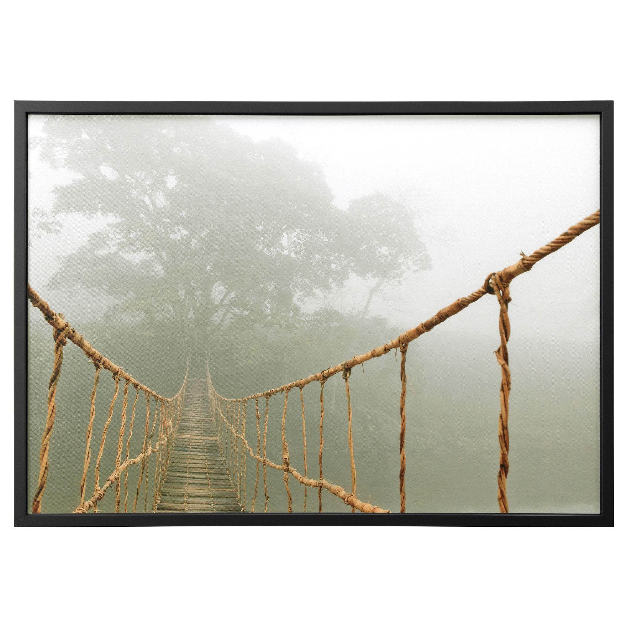Bjorksta Picture And Frame Jungle Journey Black Ikea Giant