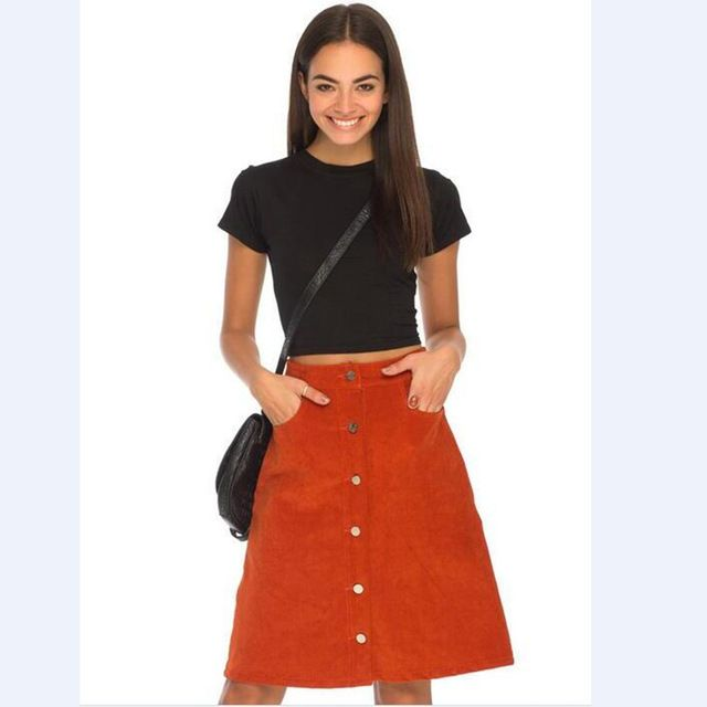 Discount Supply Cheap Sale Best Prices Only Detailed Midi Skirt Women Orange Fake Sale Online Manchester For Sale Find Great Online 3S44zh