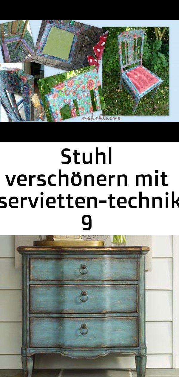 Stuhl verschönern mit servietten-technik 9 #steinebemalenanleitung