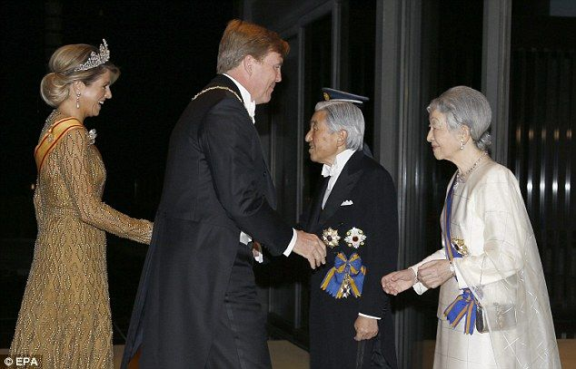 Queen Maxima and husband Willem-Alexander join Emperor Akhito and Empress Michako | Daily Mail Online