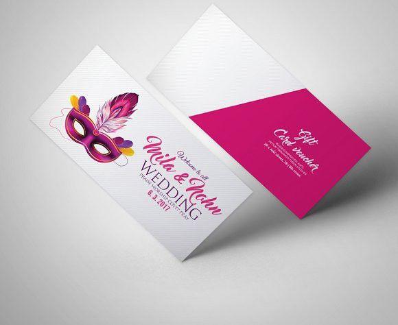 Mardi Gras Carnival Gift Voucher Wedding Card Templates Wedding - business voucher template