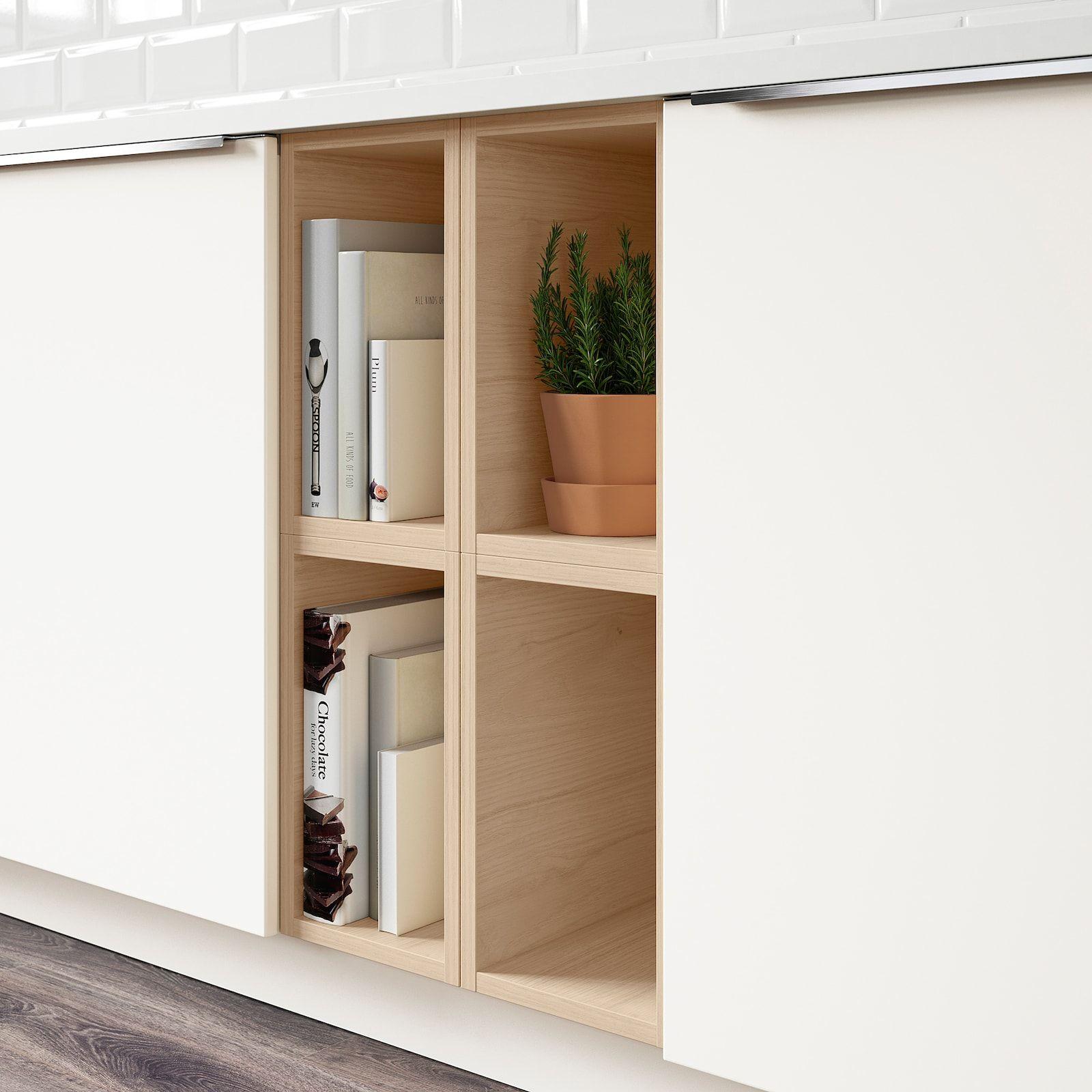 Tutemo Open Cabinet Ash Width 9 Ikea In 2020 Open Cabinets Modern Kitchen Cabinet Design Cabinet
