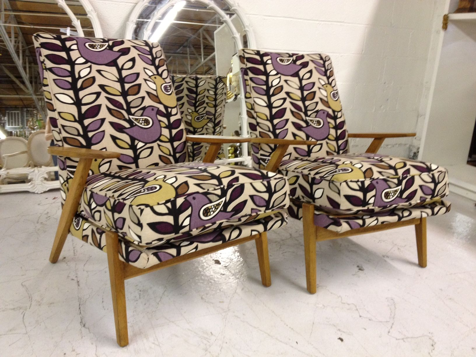 French Mid Century Beach Chairs Furniture Upholstery