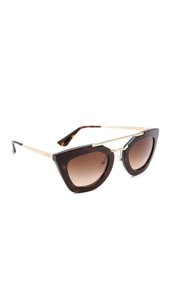 Prada Thick Frame Sunglasses - Havana/Brown | FashionToDieFor ...