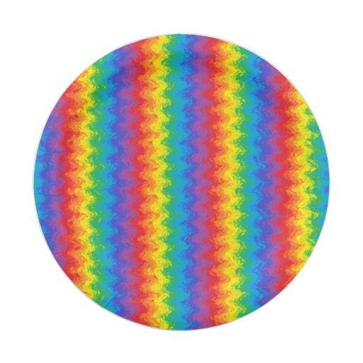 Wavy Rainbow Paper Plates  sc 1 st  Pinterest & Wavy Rainbow Paper Plates | Rainbows and Products