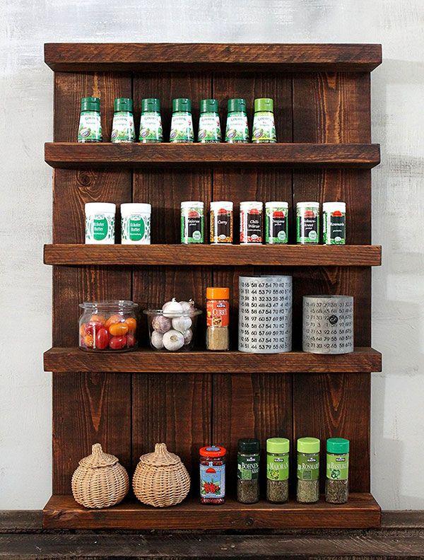 9 bonitos especieros de madera para cocinas r sticas - Muebles cocinas rusticas ...