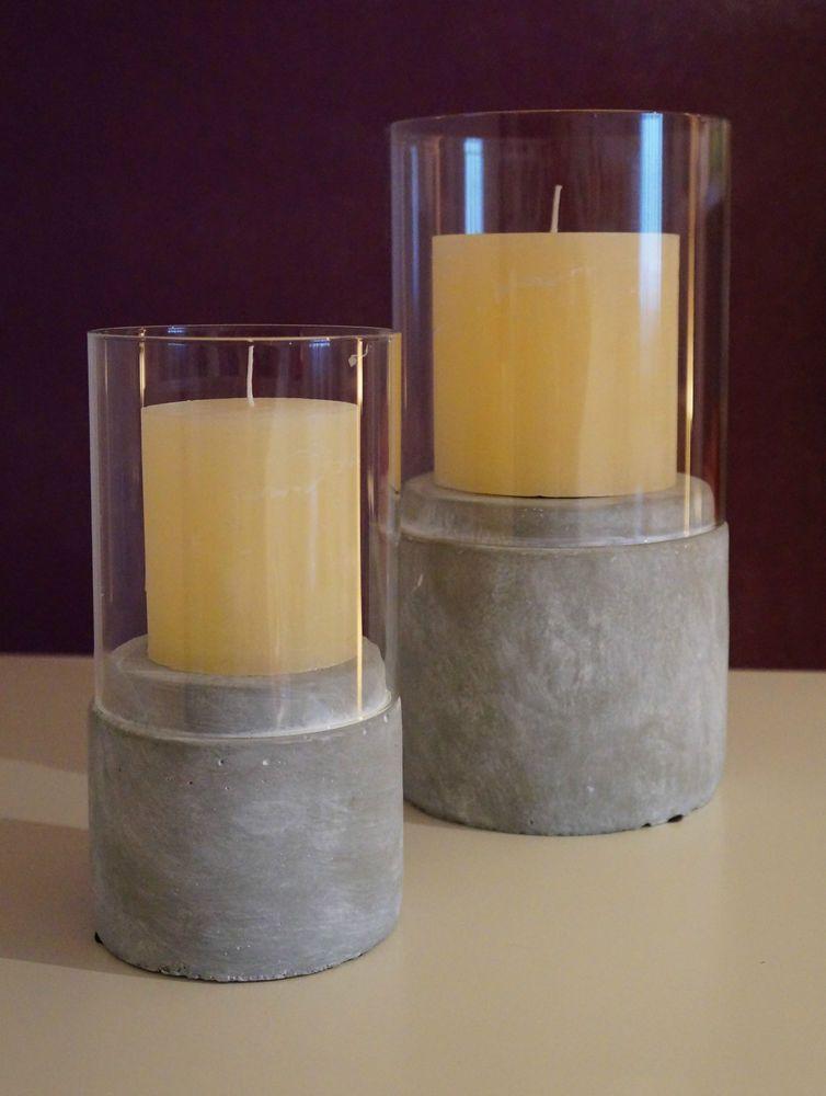 Glaslicht Leonardo Montana Stein Windlicht Von Inkl Kerze In