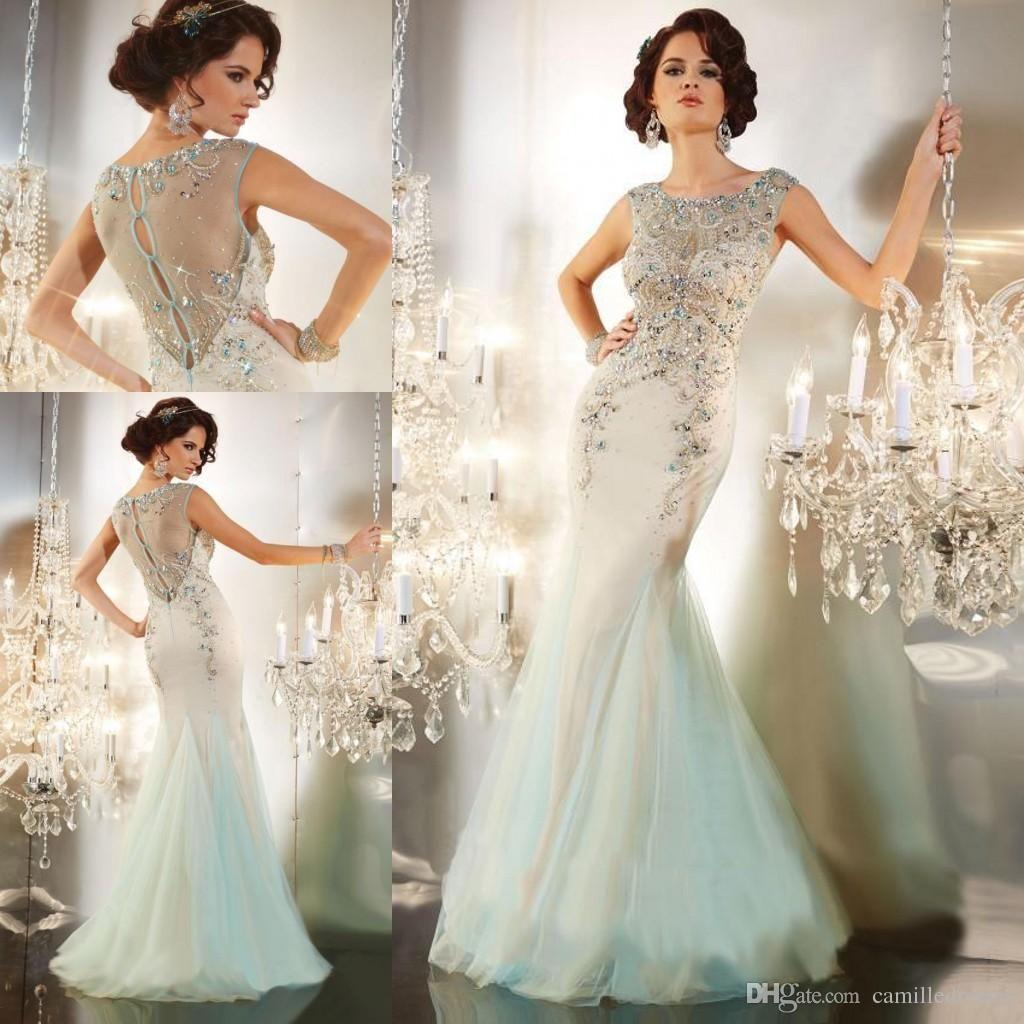 modest designer mermaid beaded celebrity evening dresses