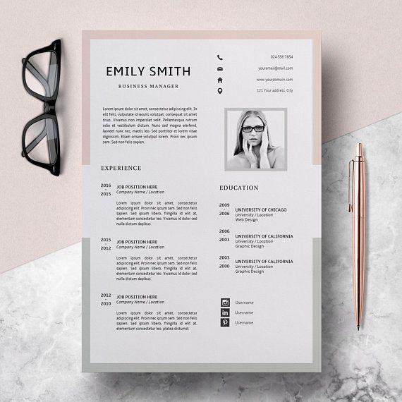 Modern Resume Template CV Template + Cover Letter Creative