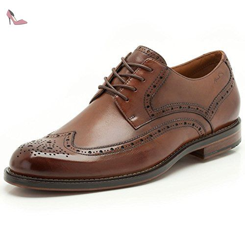 Clarks Dorset Limit, Derbies à lacets hommes - - Cuir marron, 050 H -