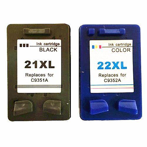 Compatibles Cartuchos De Tinta Reemplazo Para Hp 21 22 Para Hp