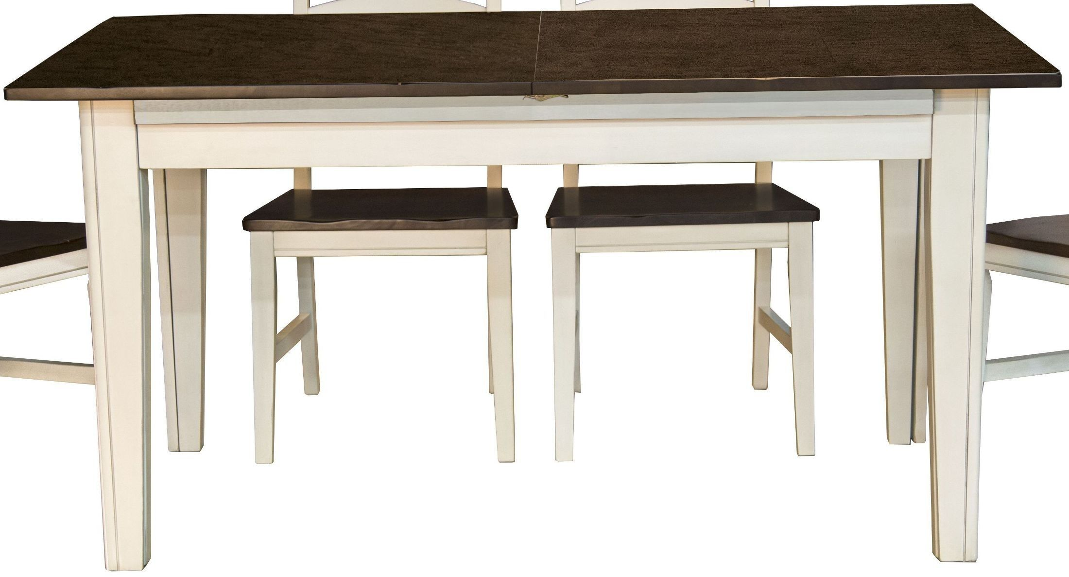 Toluca Chalk And Cocoa Bean 132 Extendable Rectangular Leg Dining