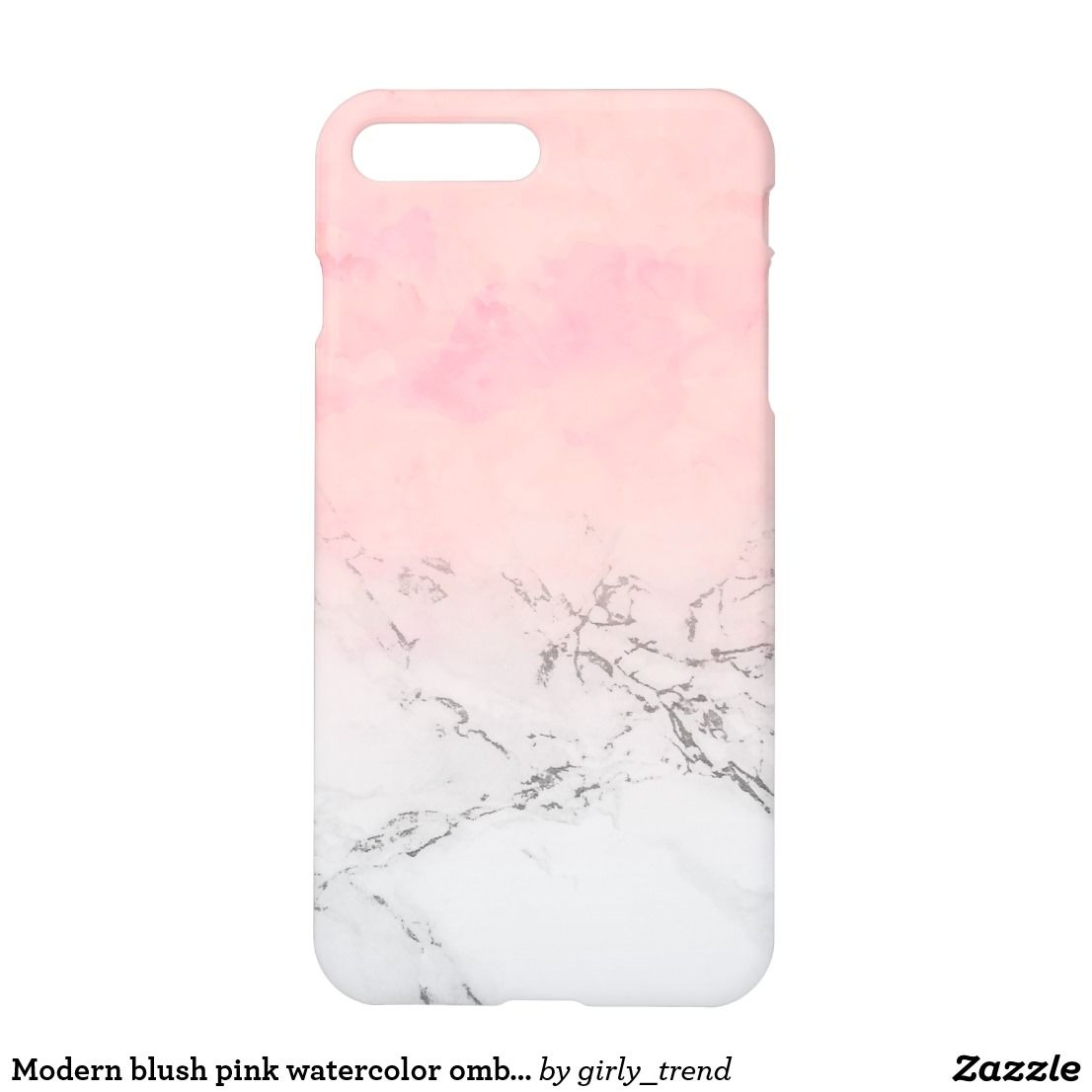 Modern Blush Pink Watercolor Ombre White Marble Iphone Case Zazzle Com Marble Iphone Case White Phone Case White Marble Iphone