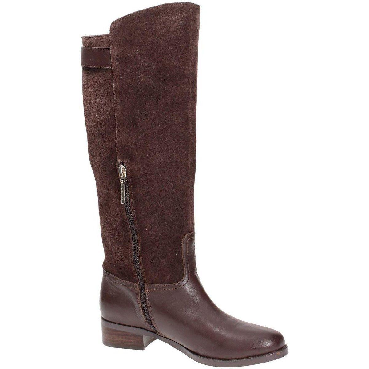 botte ville liu jo shoes s63059p0102 botte femme cuir marrone