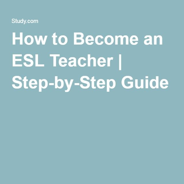 How To Become An Esl Teacher Step By Step Guide Esl Teachers Machine Learning Data Driven Marketing
