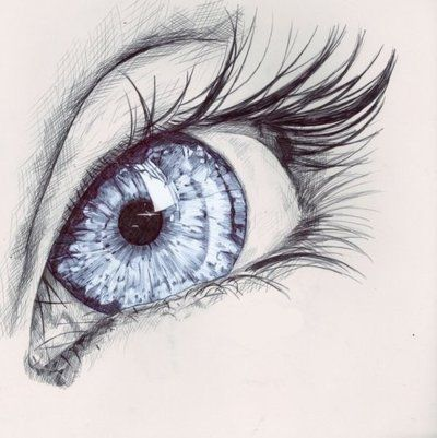 I can seriously never get tired of looking at drawings of eyes. So magical.
