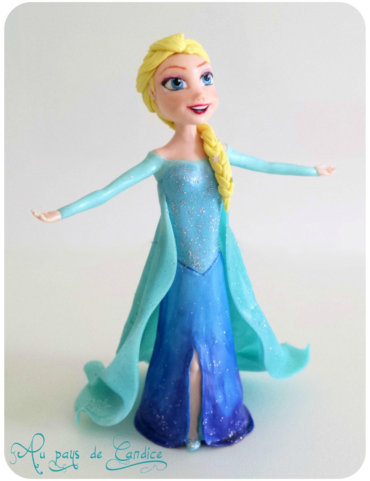 modelage delsa la reine des neiges en porcelaine froide